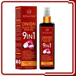 Onion black seed hair oil