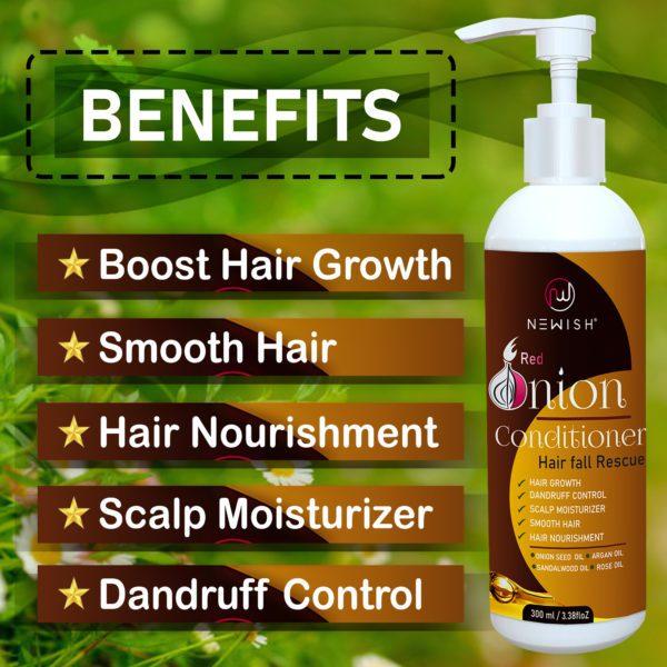 Benefits of onion hair conditoner