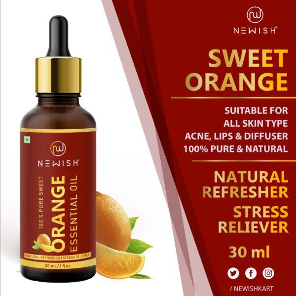 Natural orange oil for hair & skin