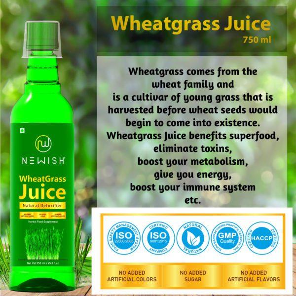 Natural wheatgrass juice