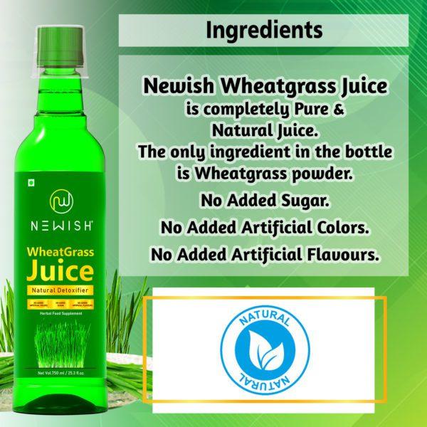 Ingredients of wheatgrass juice